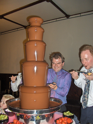 Can't help but smile at the chocolate fountain.