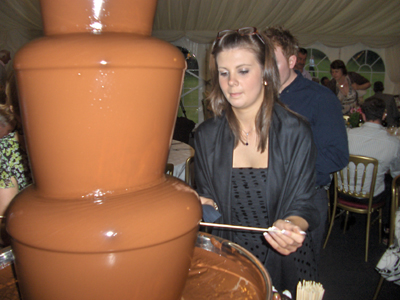 Concentration, get as much chocolate on as you possibly can!